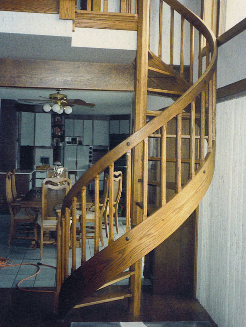 1 traditional custom wood spiral staircase 2
