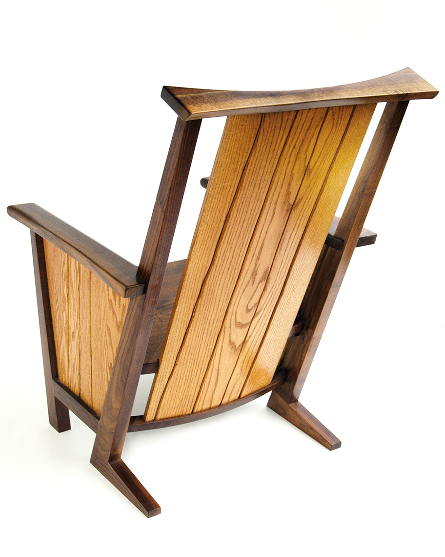 1 Contemporay Adirondack Chairs Oak and Walnut