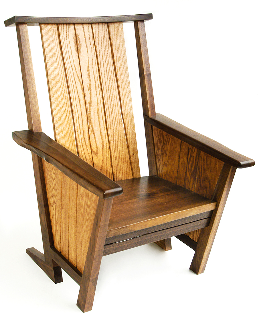 1 Contemporay Adirondack Chairs Oaks and Walnut