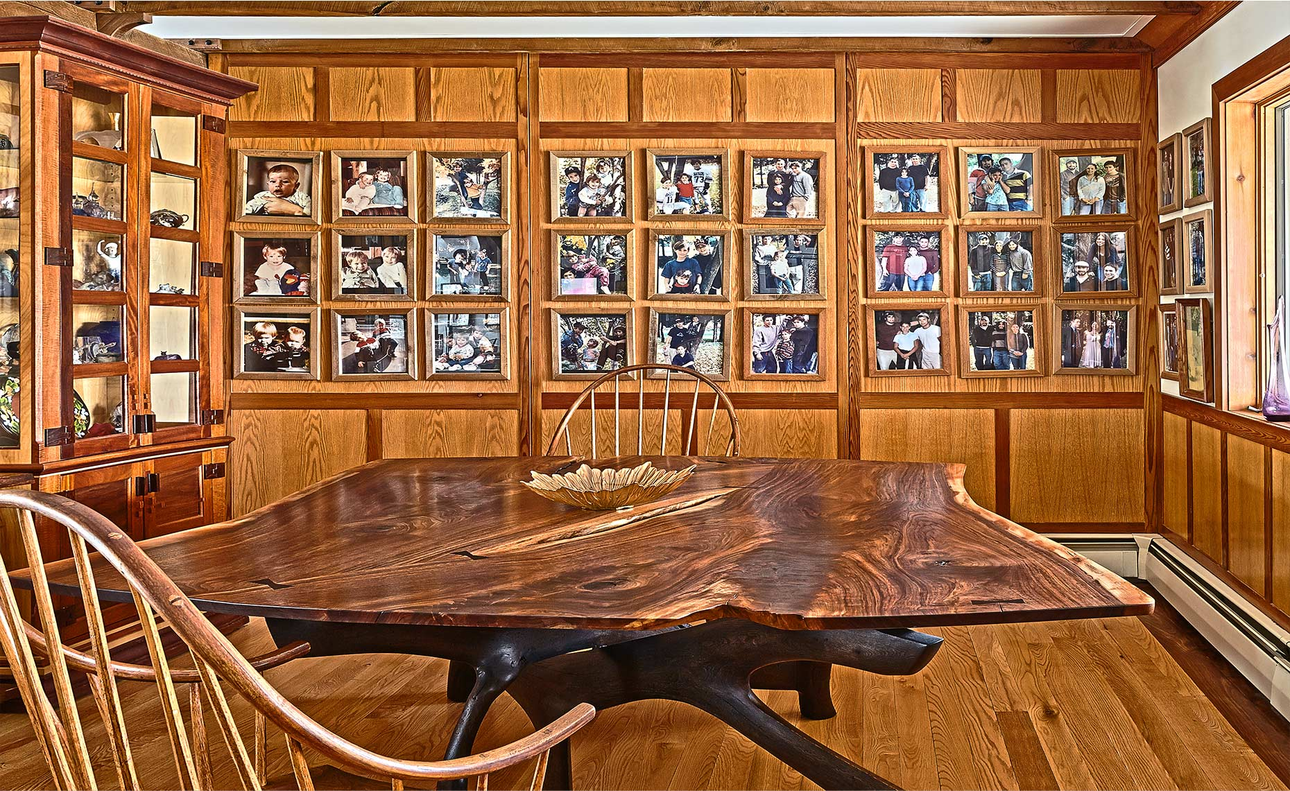 new jersey custom wood furniture-Walnut Dinning Room Tables with Sculpted Base