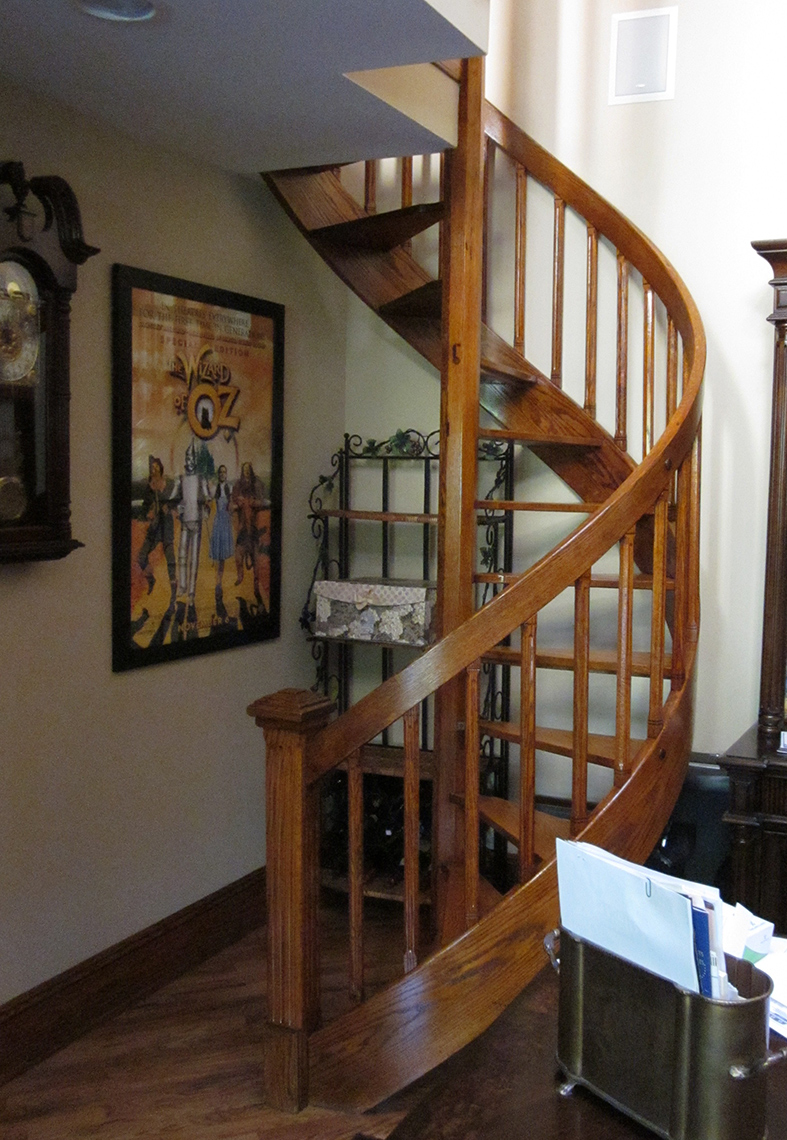 2 traditional custom wood spiral staircase 3