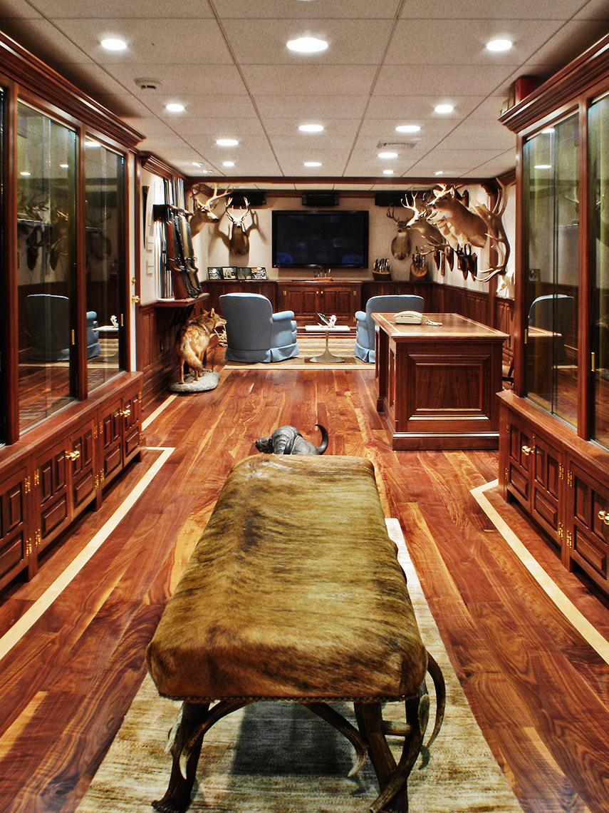 2 Custom Figured Walnut Gun Room