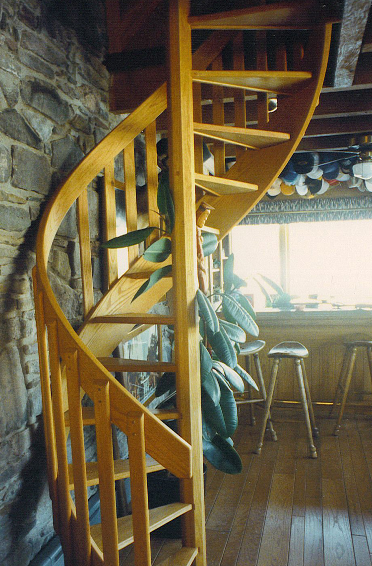4 country custom wood spiral staircase 1