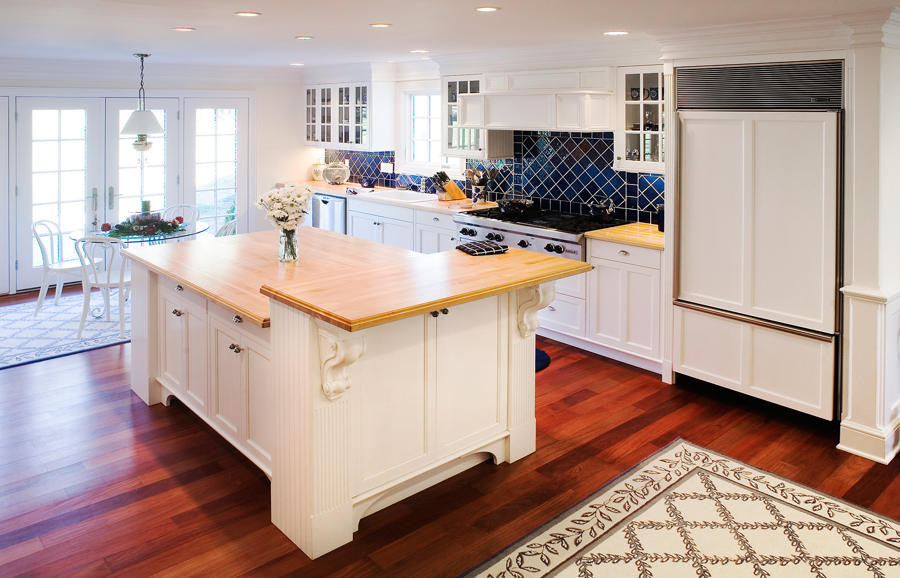 custom kitchen remodels bucks county PA - Country Kitchen Painted Finish