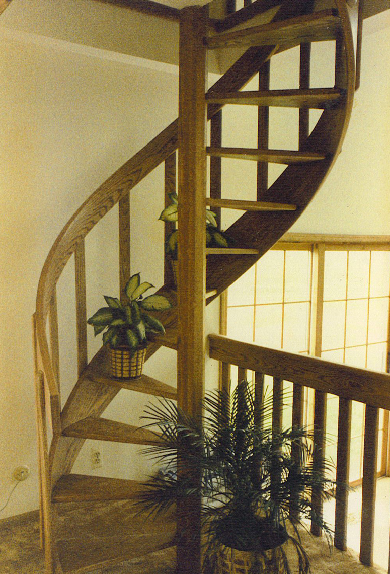 6 country custom wood spiral staircase 5