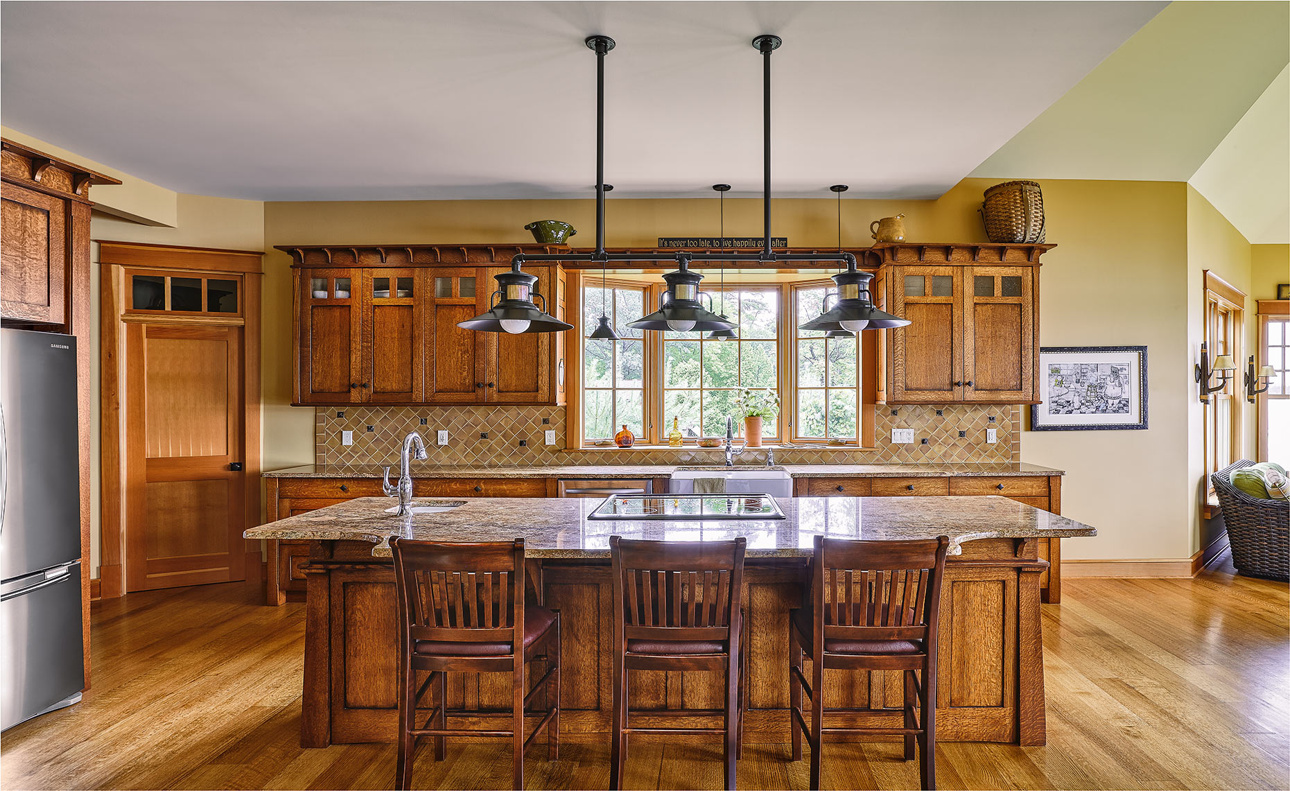 custom kitchen remodels bucks county nj-Mission Style Kitchen Quartered Oak