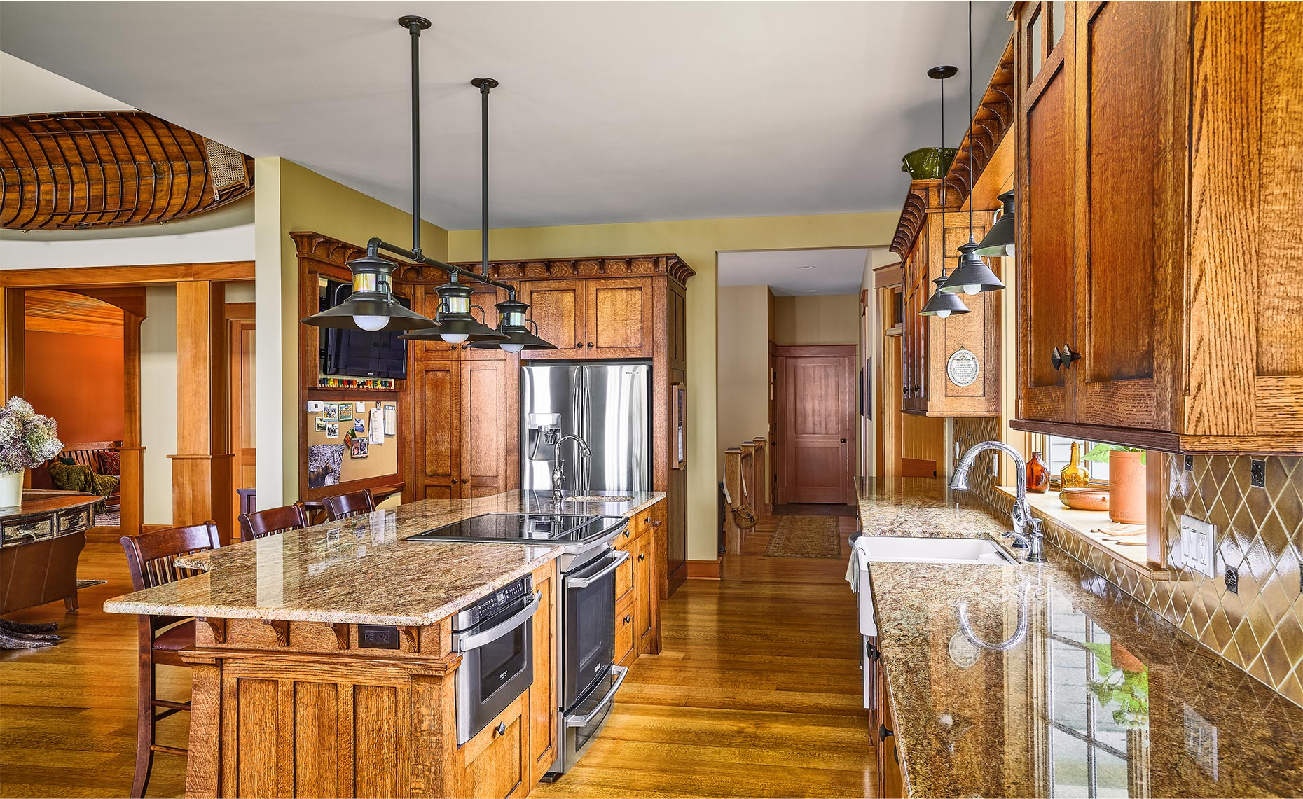 custom kitchen remodels bucks county PA - Mission Style Kitchen Quartered Oak