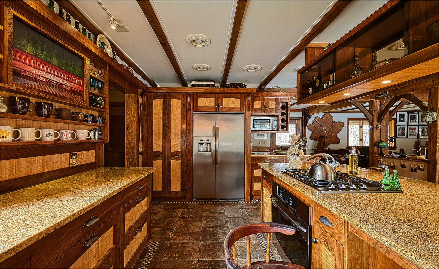 custom kitchen cabinets- mercer county, nj-by birdie miller-Country Walnut and Figured Maple