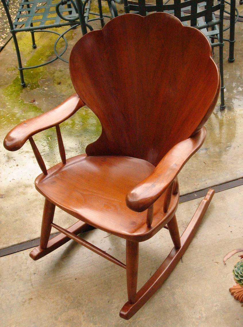 Carved Shell back Chair Walnut CustomFurniture 2