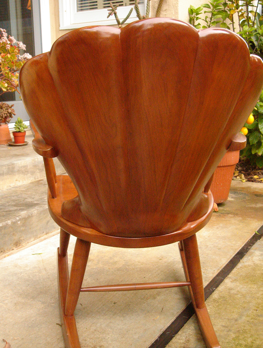 new jersey custom wood furniture-Carved Shell back Chair Walnut CustomFurniture