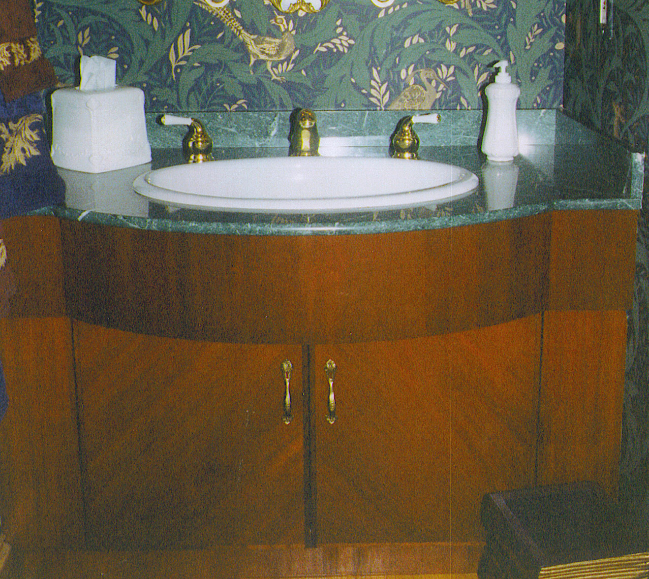 Clasical-Mahogany-Powder-Room-Vanity-Custom-Vanitiy 1