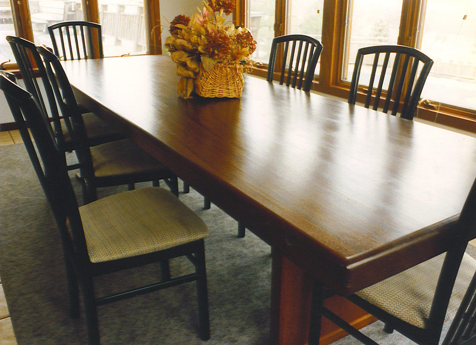 Crafts-Style-Mahogany-Breakfast-Table--Custom-Furniture