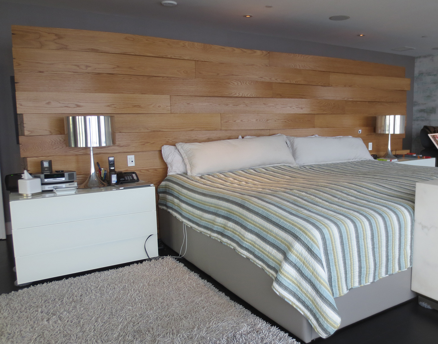 custom cabinets nj-Bed Head Board Rustic Contemporary