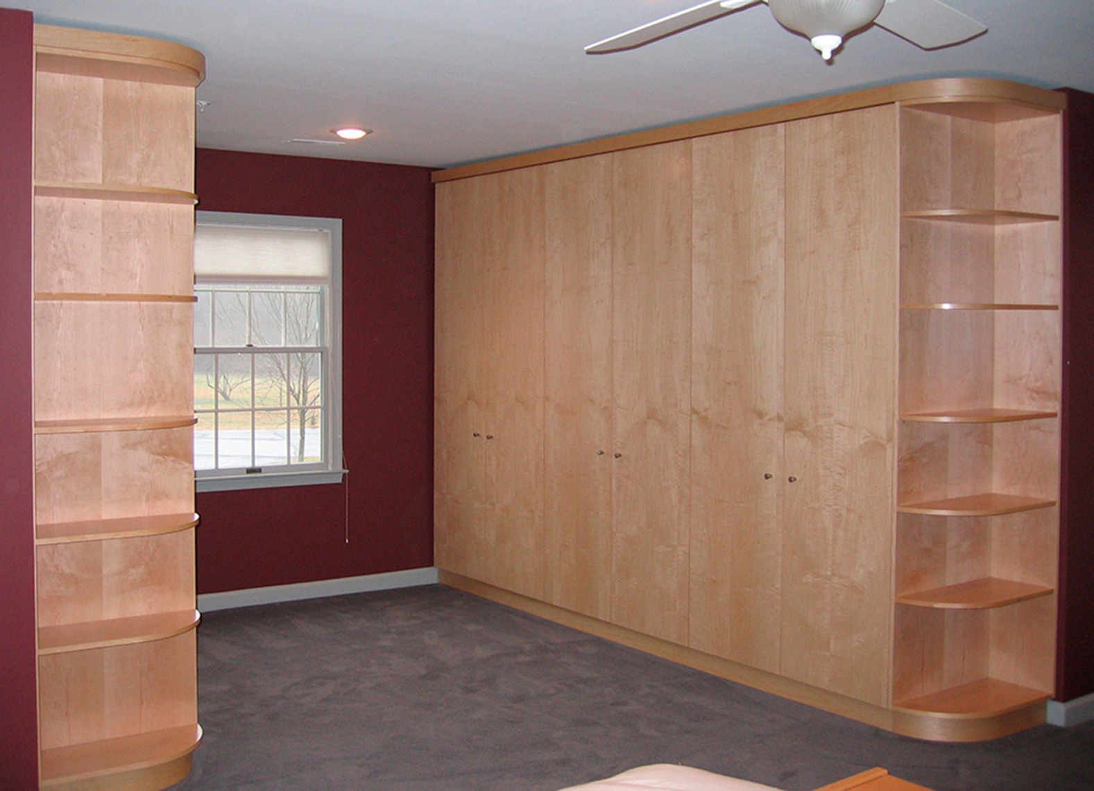 custom cabinets nj-Bedroom Wardrobe Dressing Room Closet Maple 1