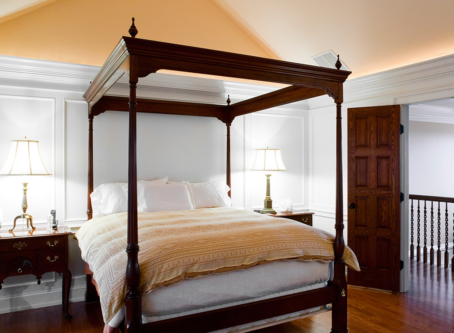 custom cabinets nj-Traditional Bedroom Bed Dressing Room