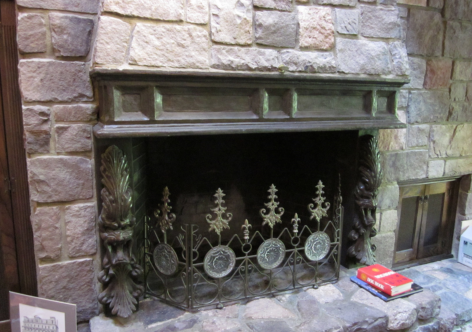 Custom-Woodworking-Concrete-Fire-Place-Mantle