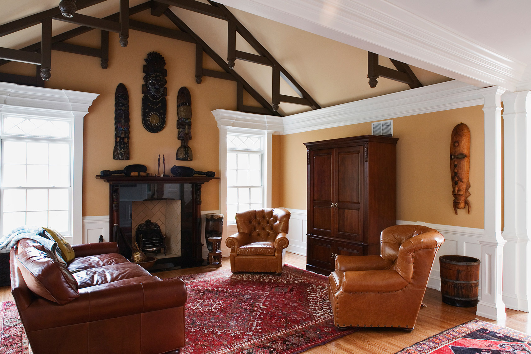 custom cabinets nj-Family Room Traditional Woodwork and Trim work Crown Moulding