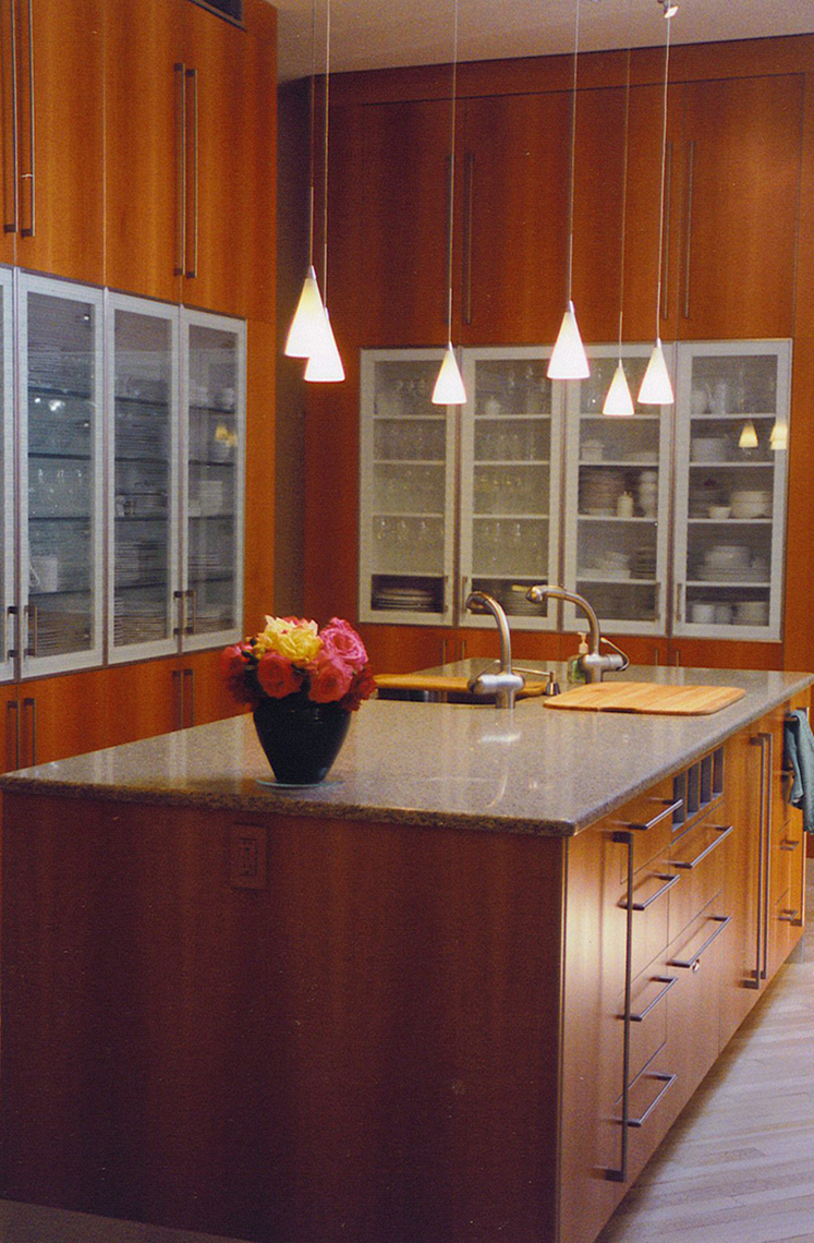 custom kitchen cabinets- mercer county, nj-by birdie miller-Kitchen-Contemporary-Pear-Wood-Quartered-Custom-Cabinets--1