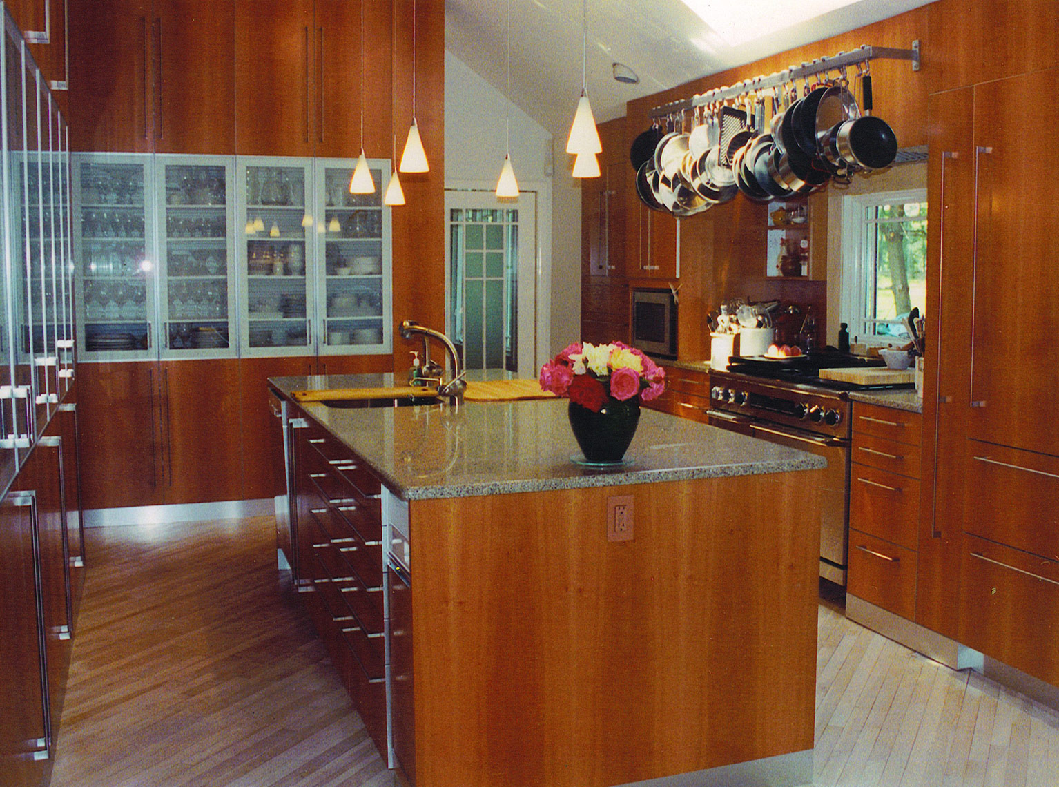 custom kitchen cabinets- mercer county, nj-by birdie miller-itchen-Contemporary-Pear-Wood-Quartered-Custom-Cabinets--2