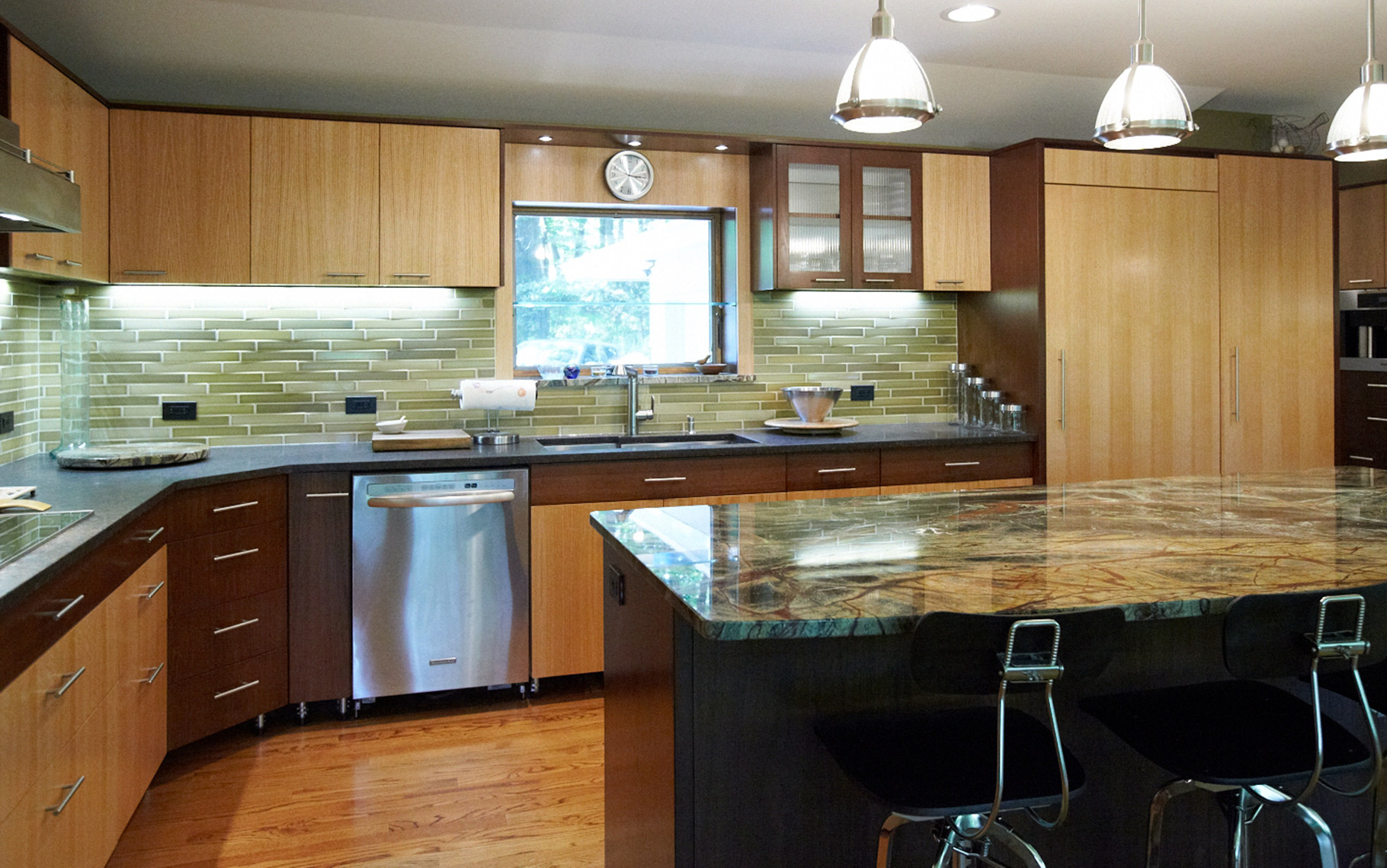 Kitchen-Contemporary-Rift-Grain-Oak-and-Walnut-Custom-Cabinets-1