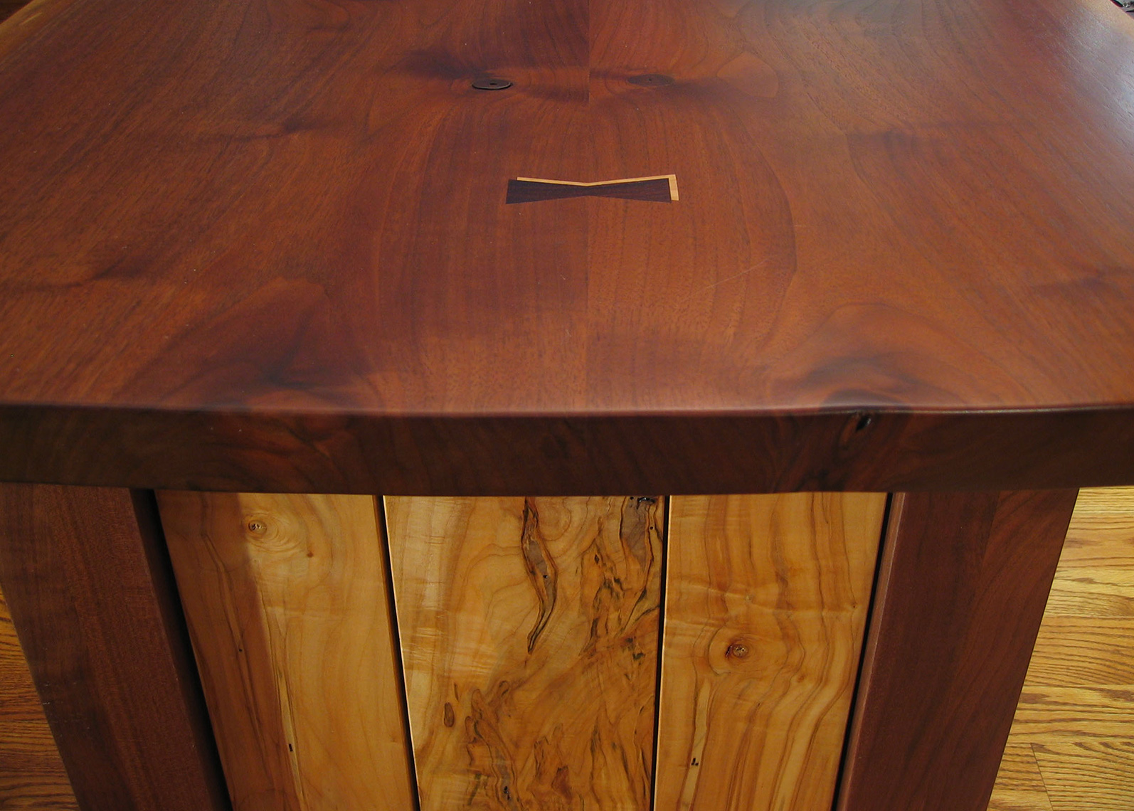custom cabinets Morris County, NJ-Office-Desk-Walnut-Ambrosia-Maple-Woodworking-3