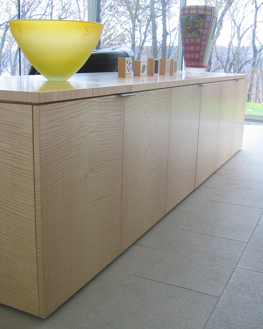 custom cabinets Morris County, NJ-Qtred-English-Sycamore-Room-Divider-Woodworking-2
