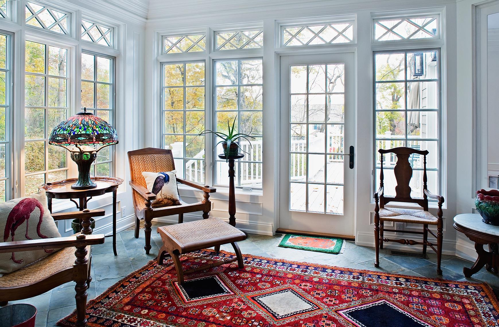 Sun Room Custom Traditional Woodwork and Trim work Crowm Moulding