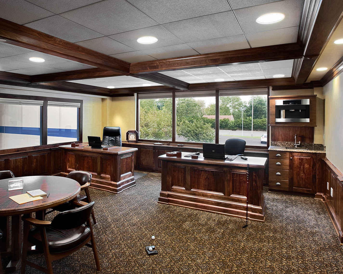custom cabinets nj-Traditioanl Office Walnut
