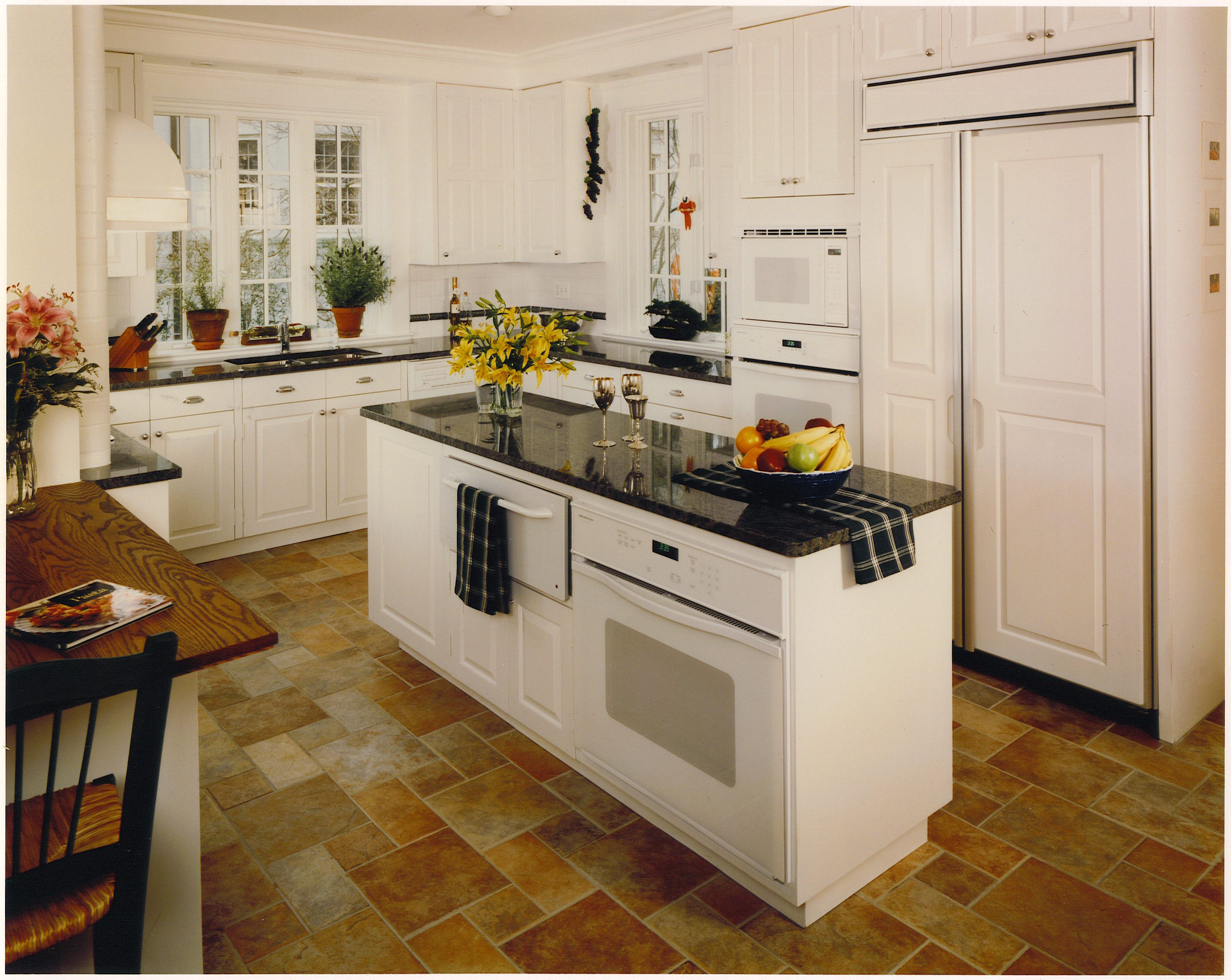 custom kitchen remodels bucks county PA - Traditional Raised Panel Kitchen Painted  White, inset doors