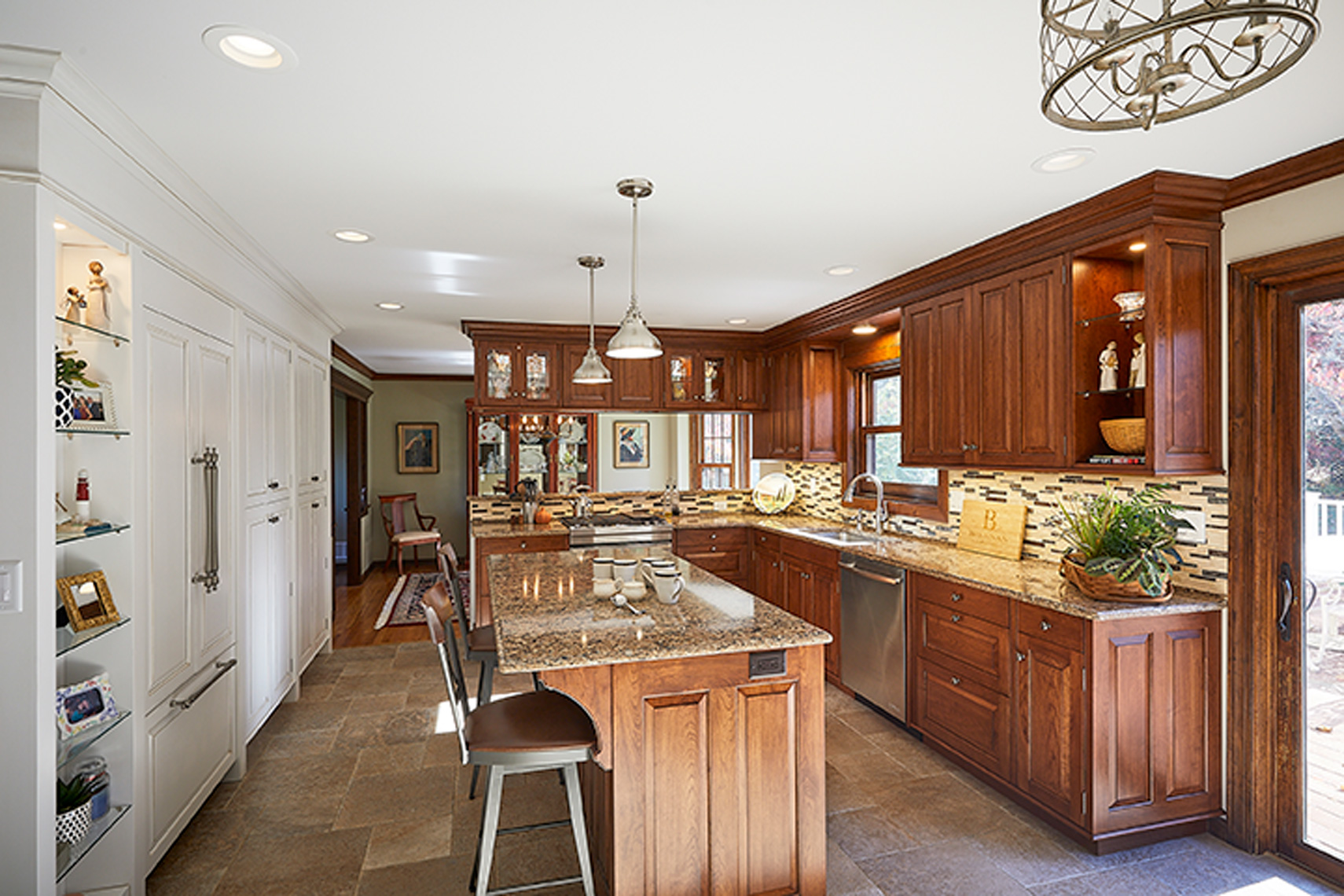 custom kitchen remodels bucks county PA - TraditionalCherryKitchen1