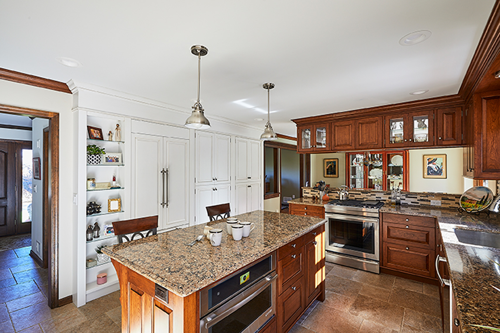 custom kitchen remodels bucks county PA - TraditionalCherryKitchen2