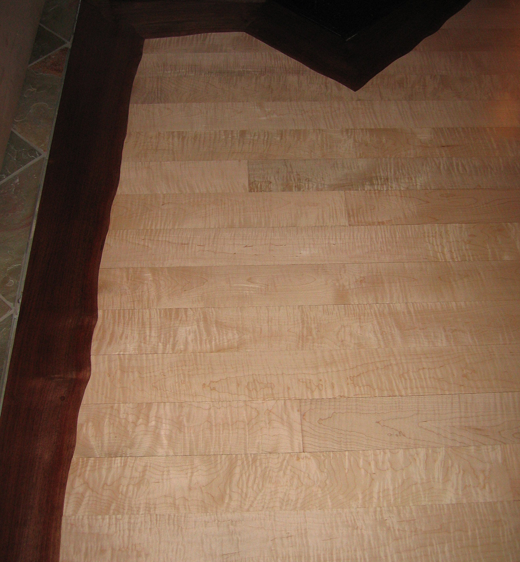 custom wood Floor-Custom-Figured-Maple-Live-Edge-Walnut-Border-2