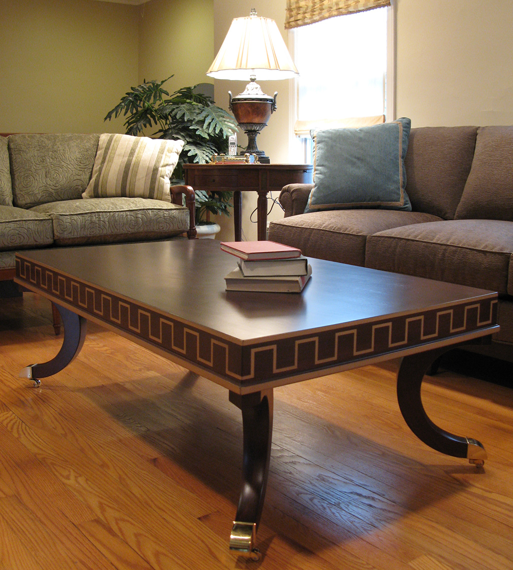 new jersey custom wood furniture-traditional, Clasic-Guilded-Coffee-Table-Custom-Furniture
